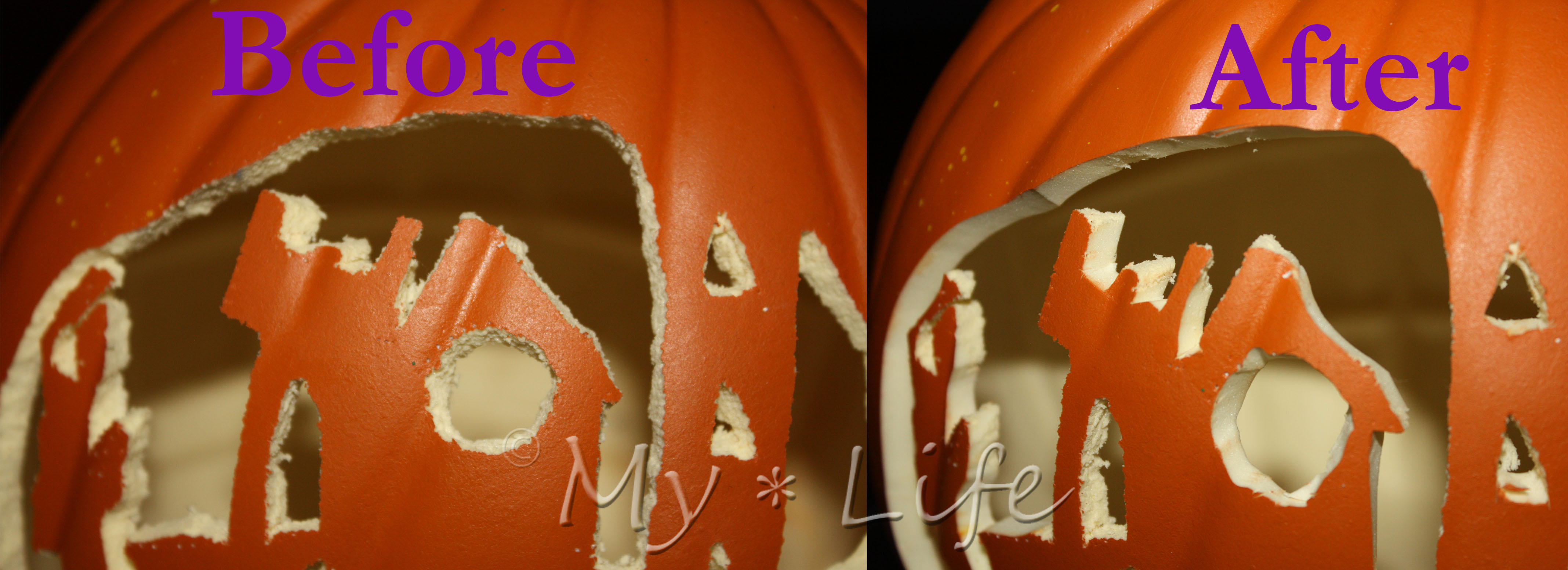 Have your pumpkin forever! carve foam pumpkins with a hot knife my
