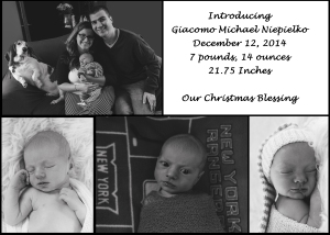 Giacomo's Announcement