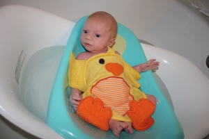 Jack's first bath
