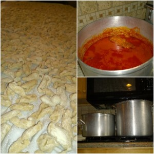 Mama's Homemade Cavatelli and Sauce