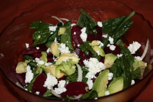 Beet Avocado Salad