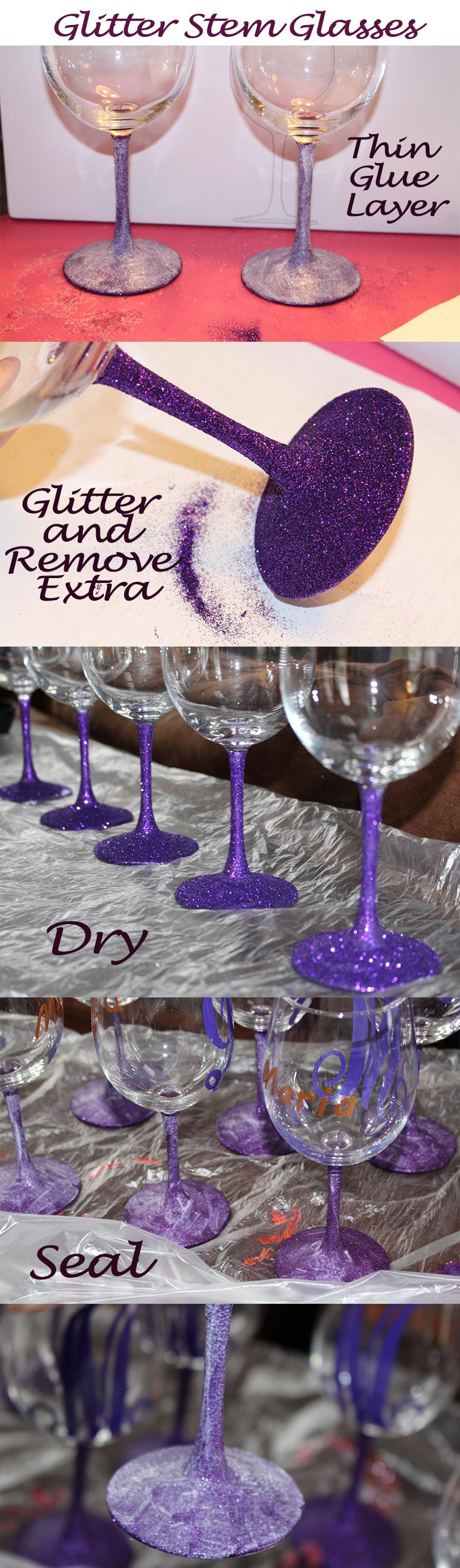 Purple Glitter Stems 3